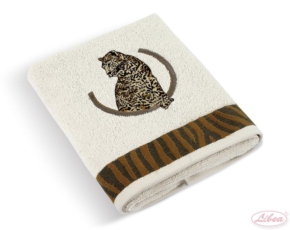 Ručník, osuška Leopard krémový